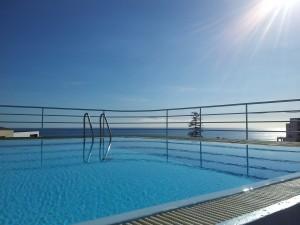 pool in the sun